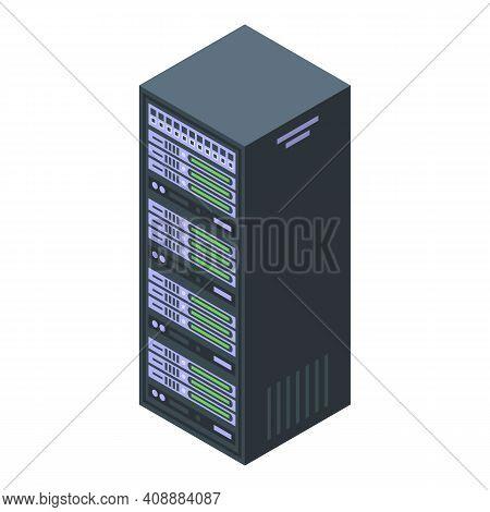 Customer Database Server Infrastructure Icon. Isometric Of Customer Database Server Infrastructure V