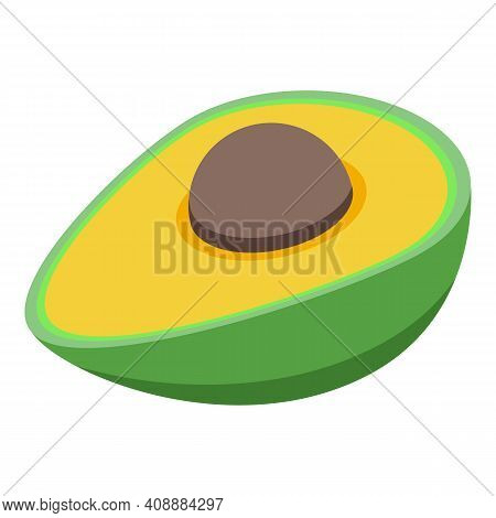Avocado Icon. Isometric Of Avocado Vector Icon For Web Design Isolated On White Background