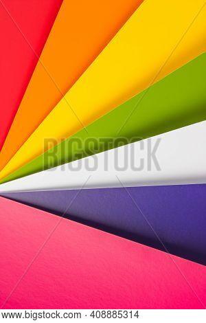Multicolored Bright Background. Color Palette Guide On White Background. Color Guide For Design.