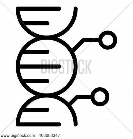 Genome Icon. Outline Genome Vector Icon For Web Design Isolated On White Background
