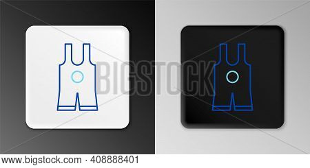 Line Wrestling Singlet Icon Isolated On Grey Background. Wrestling Tricot. Colorful Outline Concept.