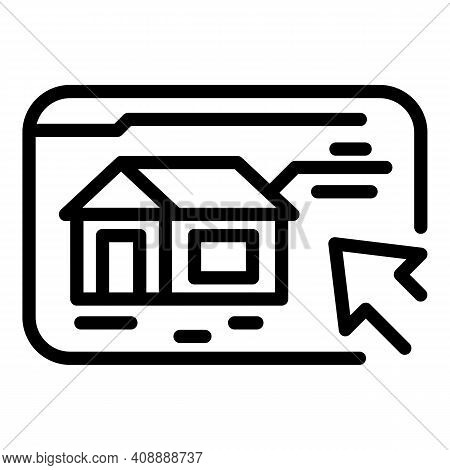Online Selection Home Icon. Outline Online Selection Home Vector Icon For Web Design Isolated On Whi