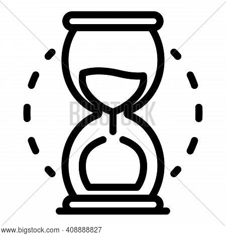 Hourglass Icon. Outline Hourglass Vector Icon For Web Design Isolated On White Background