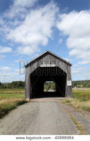 Quaint covered bridge near Hopewell Hill, New Brunswick, Canada