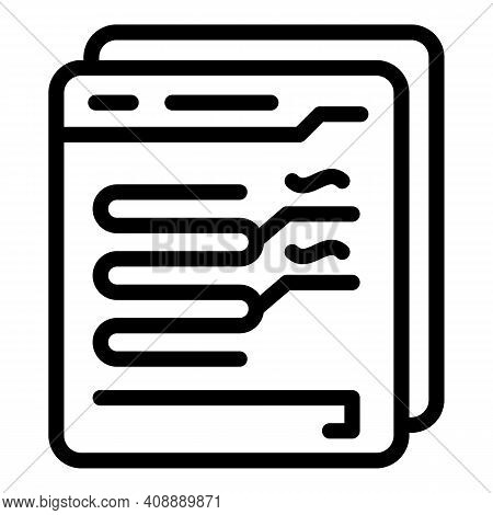 Online Virtual Interaction Icon. Outline Online Virtual Interaction Vector Icon For Web Design Isola