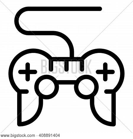 Joystick Interactive Tv Icon. Outline Joystick Interactive Tv Vector Icon For Web Design Isolated On