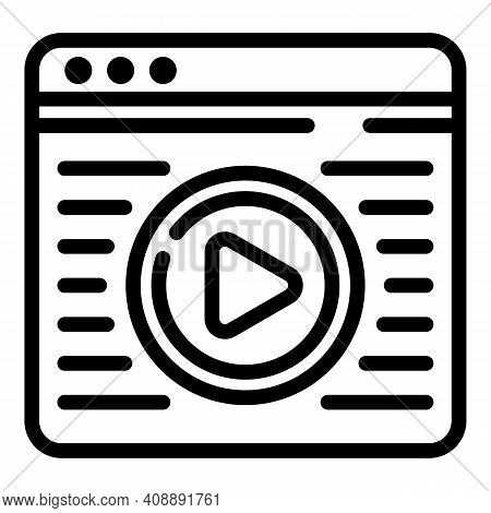 Interactive Tv Web Page Icon. Outline Interactive Tv Web Page Vector Icon For Web Design Isolated On