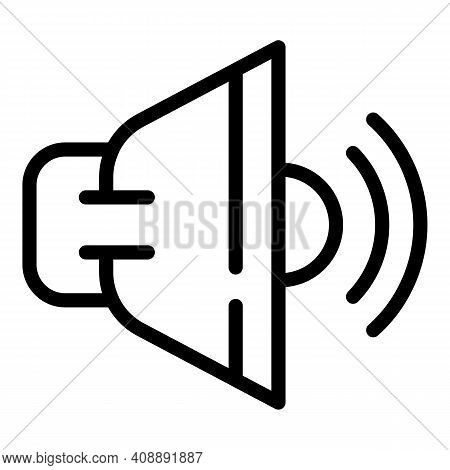 Interactive Tv Sound Icon. Outline Interactive Tv Sound Vector Icon For Web Design Isolated On White