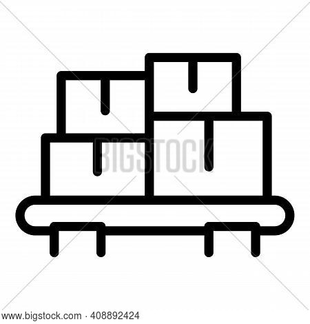Car Roof Carton Box Icon. Outline Car Roof Carton Box Vector Icon For Web Design Isolated On White B