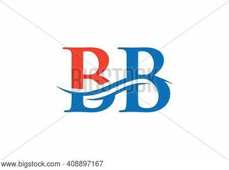 Premium Letter Bb Logo Design With Water Wave Concept. Bb Letter Logo Design With Modern Trendy