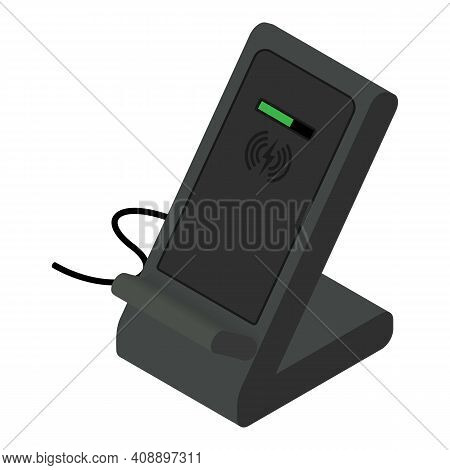 Smartphone Wireless Charger Icon. Isometric Of Smartphone Wireless Charger Vector Icon For Web Desig