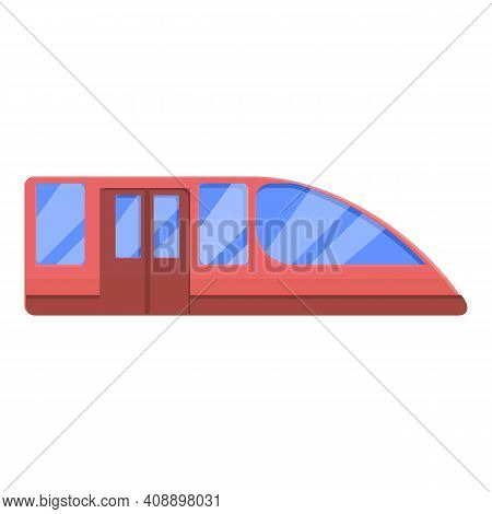 Subway Car Icon. Cartoon Of Subway Car Vector Icon For Web Design Isolated On White Background