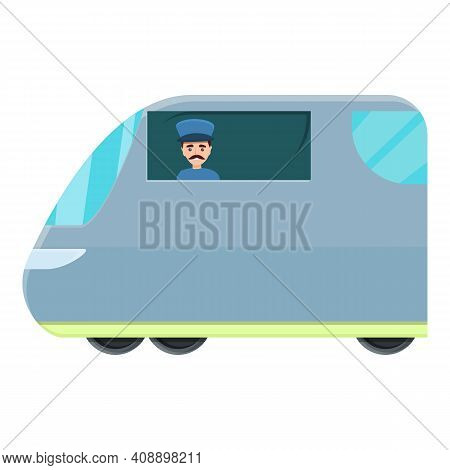 Driver Of Subway In Form Icon. Cartoon Of Driver Of Subway In Form Vector Icon For Web Design Isolat