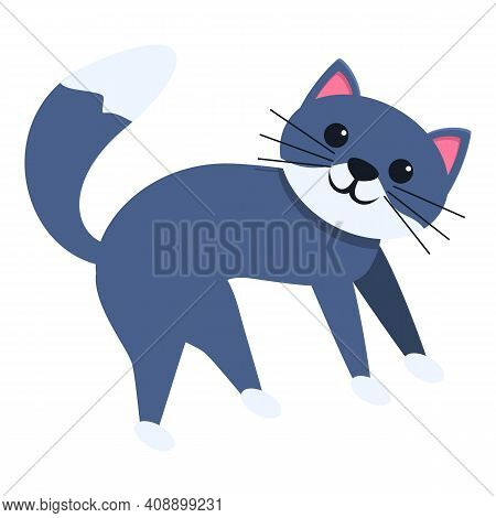 Playful Cat Icon. Cartoon Of Playful Cat Vector Icon For Web Design Isolated On White Background