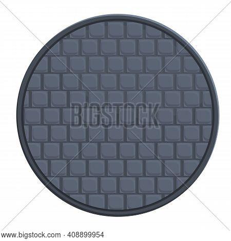 Heavy Manhole Icon. Cartoon Of Heavy Manhole Vector Icon For Web Design Isolated On White Background