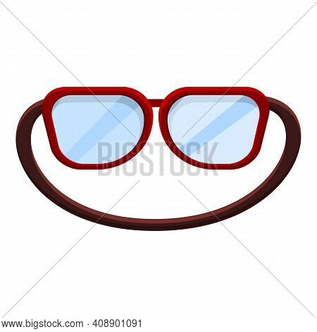 Swimming Goggles Icon. Cartoon Of Swimming Goggles Vector Icon For Web Design Isolated On White Back