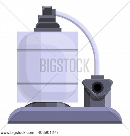 Pool Pumping Station Icon. Cartoon Of Pool Pumping Station Vector Icon For Web Design Isolated On Wh