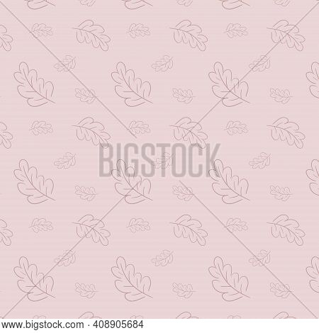 Spring Leaves On The Pink Background Pattern