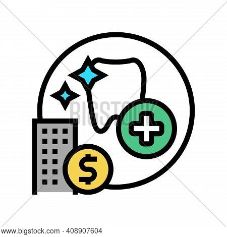 Dentist Benefits Color Icon Vector. Dentist Benefits Sign. Isolated Symbol Illustration
