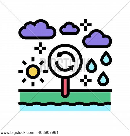 Climatope System Color Icon Vector. Climatope System Sign. Isolated Symbol Illustration