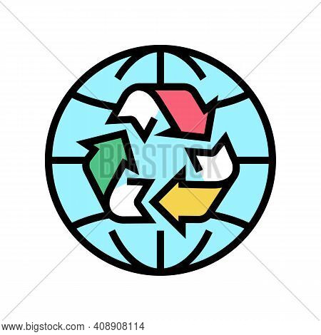 Environment Ecosystem Color Icon Vector. Environment Ecosystem Sign. Isolated Symbol Illustration