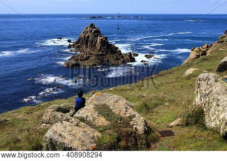 Land's End Area (england), Uk - August 16, 2015: The Land's End Area, Cornwall, England, United King