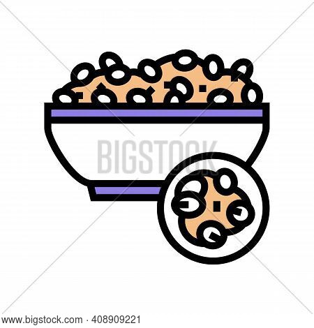 Pearl Barley Groat Color Icon Vector. Pearl Barley Groat Sign. Isolated Symbol Illustration