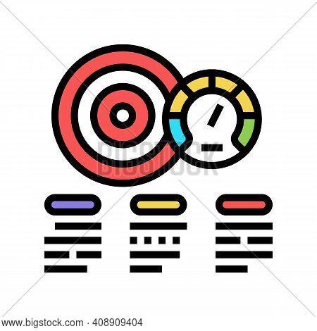 Achievement Task Optimize Color Icon Vector. Achievement Task Optimize Sign. Isolated Symbol Illustr