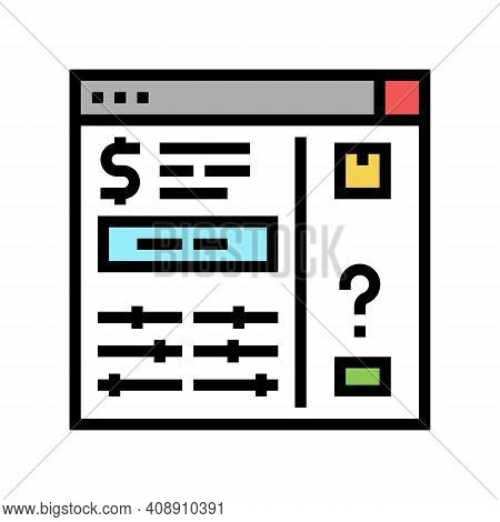 Invoice Approvals And Disputes Color Icon Vector. Invoice Approvals And Disputes Sign. Isolated Symb
