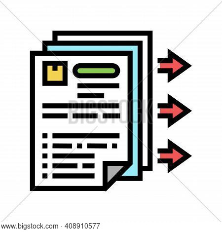 Purchase Requisition Color Icon Vector. Purchase Requisition Sign. Isolated Symbol Illustration