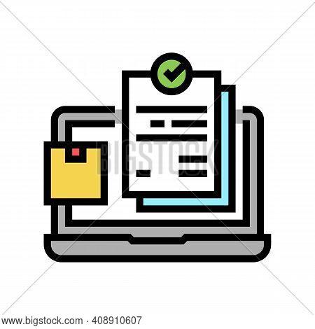 Internet Order And Procurement Color Icon Vector. Internet Order And Procurement Sign. Isolated Symb