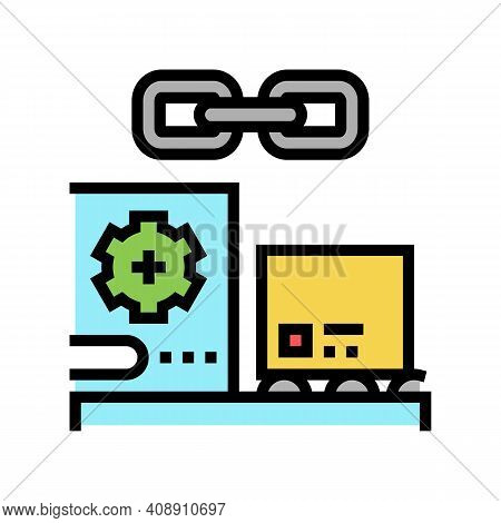 Supply Chain Color Icon Vector. Supply Chain Sign. Isolated Symbol Illustration