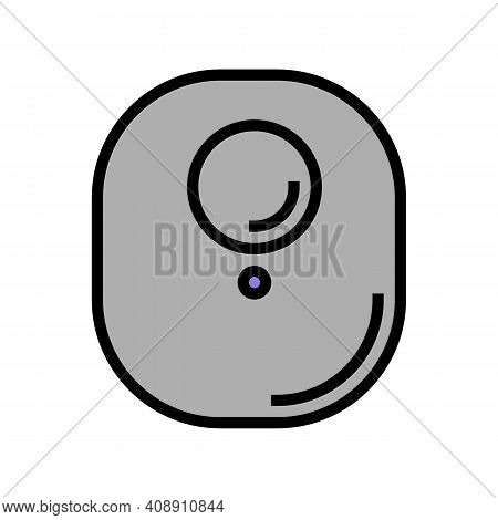 Magnetic Tag With Rfid Color Icon Vector. Magnetic Tag With Rfid Sign. Isolated Symbol Illustration
