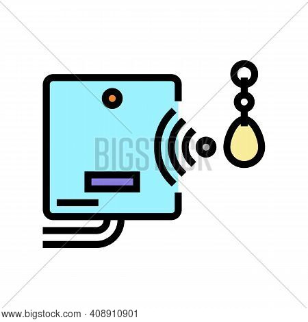 Mini Trinket With Rfid Chip Color Icon Vector. Mini Trinket With Rfid Chip Sign. Isolated Symbol Ill