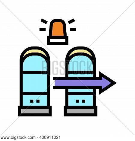 Technology Rfid For Access Color Icon Vector. Technology Rfid For Access Sign. Isolated Symbol Illus
