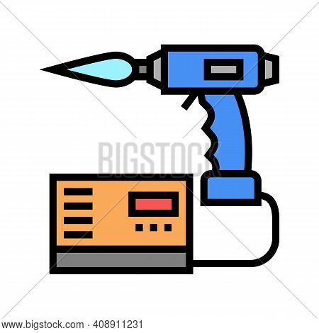 Manual Arc Welding Color Icon Vector. Manual Arc Welding Sign. Isolated Symbol Illustration