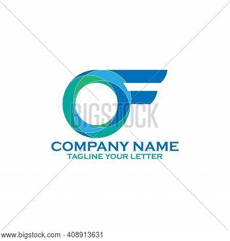 O F Letter Illustration Business Logo. O F Design Vector