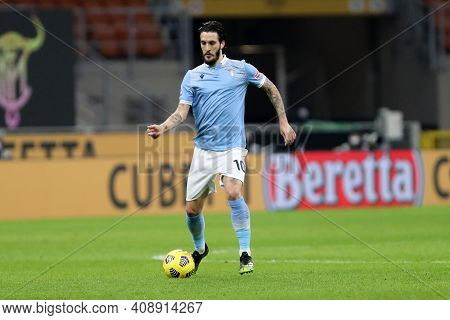 Milano, Italy. 14th February 2021 . Luis Alberto Of Ss Lazio   During The Serie A Match Between Fc I