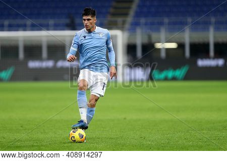 Milano, Italy. 14th February 2021 . Joaquin Correa Of Ss Lazio   During The Serie A Match Between Fc