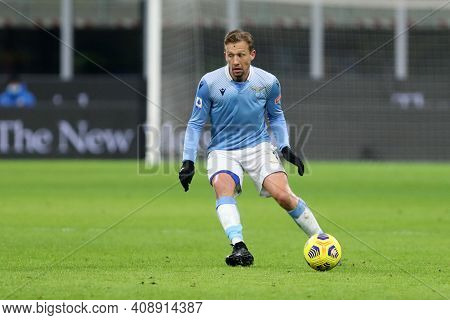 Milano, Italy. 14th February 2021 . Lucas Leiva Of Ss Lazio   During The Serie A Match Between Fc In