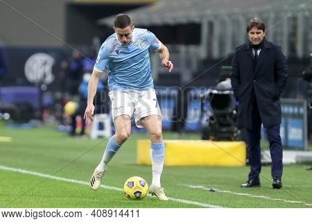 Milano, Italy. 14th February 2021 . Adam Marusic Of Ss Lazio   During The Serie A Match Between Fc I