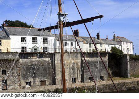 Charleston Town (england), Uk - August 16, 2015: The Historic 18th.century Charleston Town, Cornwall