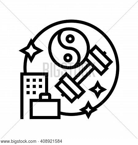 Keeping Fit And Health Benefits Line Icon Vector. Keeping Fit And Health Benefits Sign. Isolated Con