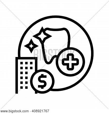 Dentist Benefits Line Icon Vector. Dentist Benefits Sign. Isolated Contour Symbol Black Illustration