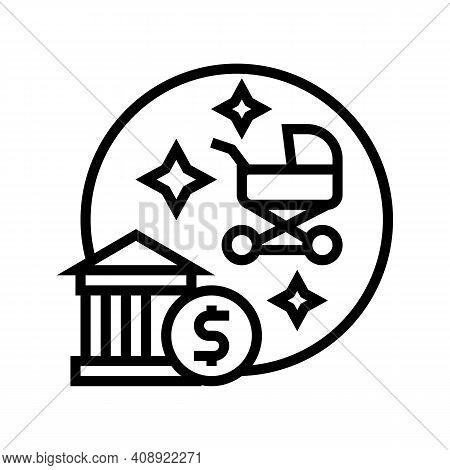 Childbirth Benefits Line Icon Vector. Childbirth Benefits Sign. Isolated Contour Symbol Black Illust