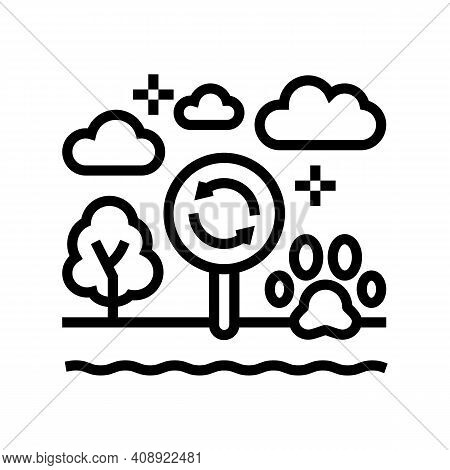 Biotope Ecosystem Line Icon Vector. Biotope Ecosystem Sign. Isolated Contour Symbol Black Illustrati