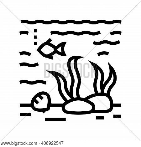 Hydrosphere Ecosystem Line Icon Vector. Hydrosphere Ecosystem Sign. Isolated Contour Symbol Black Il
