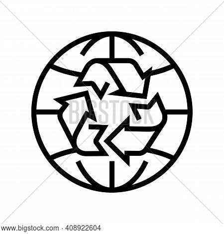 Environment Ecosystem Line Icon Vector. Environment Ecosystem Sign. Isolated Contour Symbol Black Il