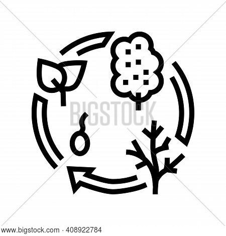 Life Cycle Line Icon Vector. Life Cycle Sign. Isolated Contour Symbol Black Illustration
