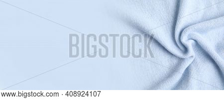Warm Cashmere Fabric As Background, Closeup View With Space For Text. Banner Design